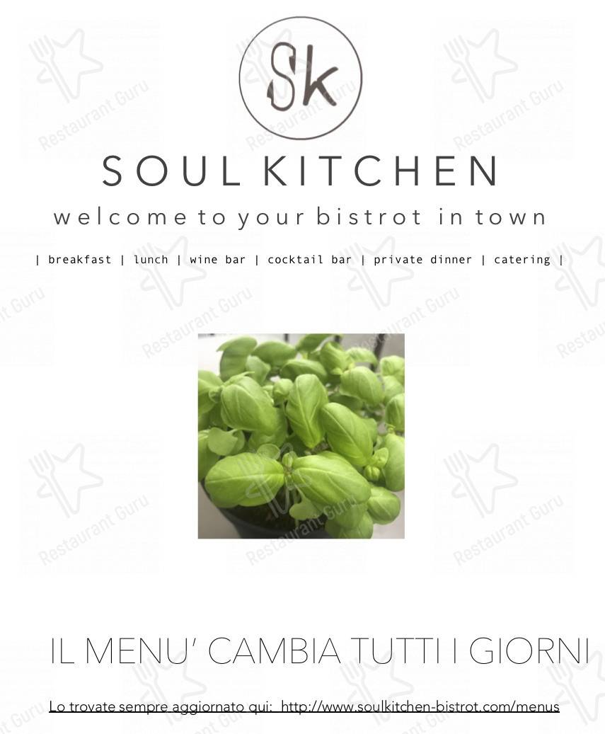 Soul Kitchen menu - dishes and beverages