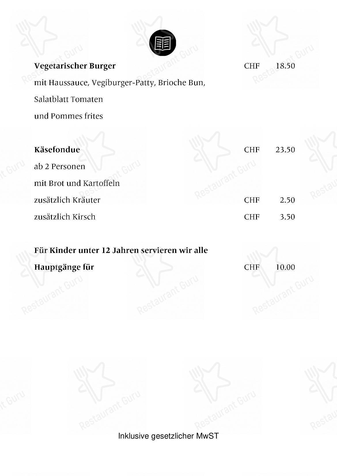 Stadtbistro Brig Speisekarte - Essen und Getränke