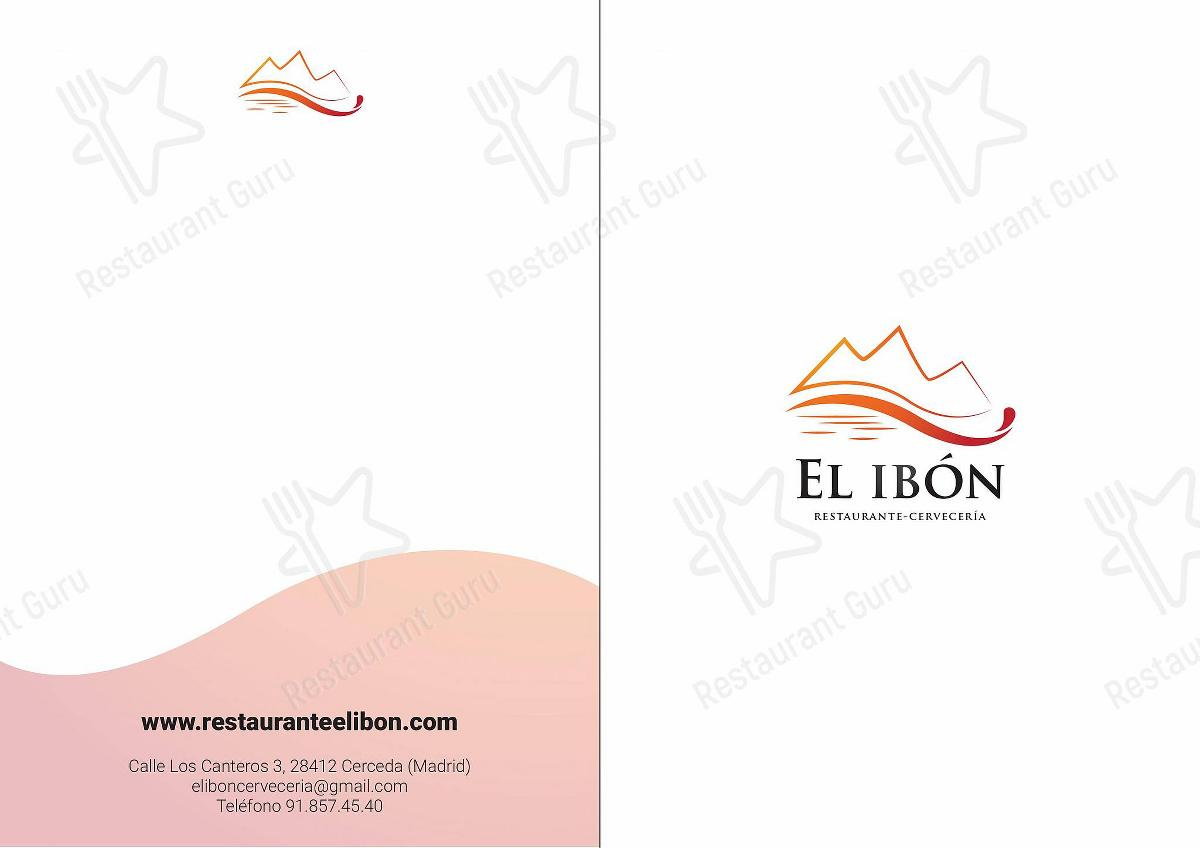 El Ibon menu - meals and drinks