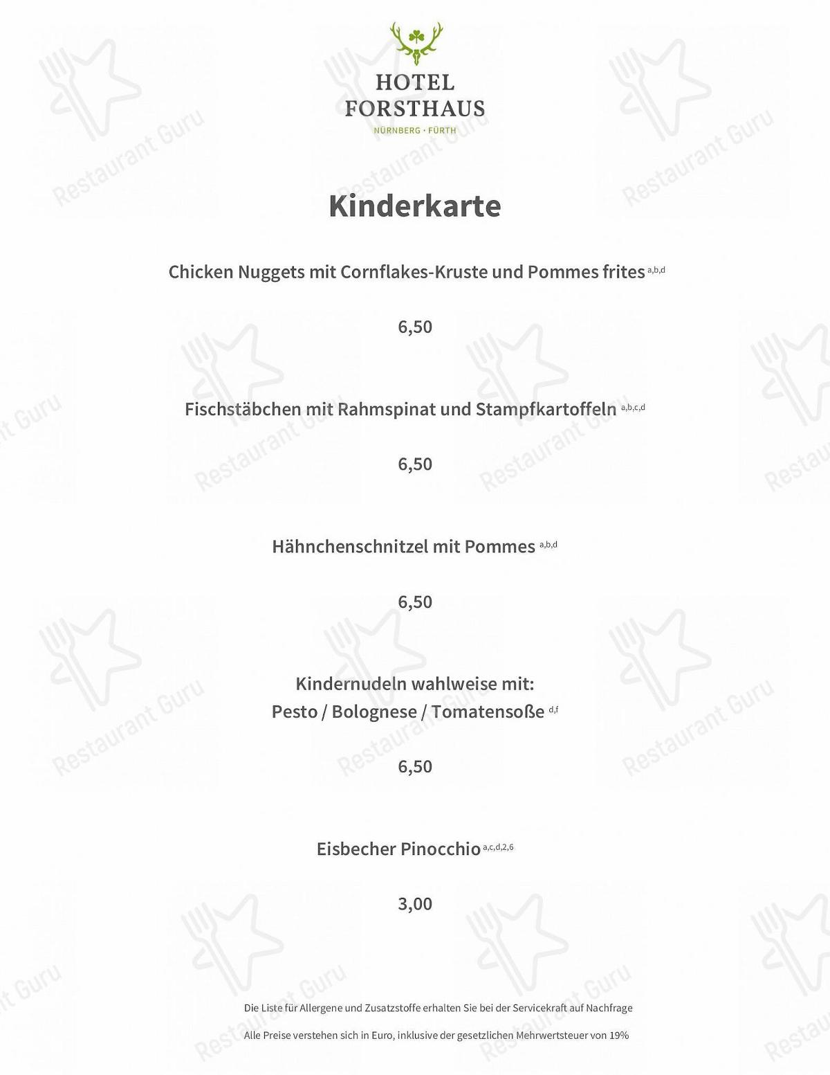 Maximilians Restaurant Speisekarte - Essen und Getränke