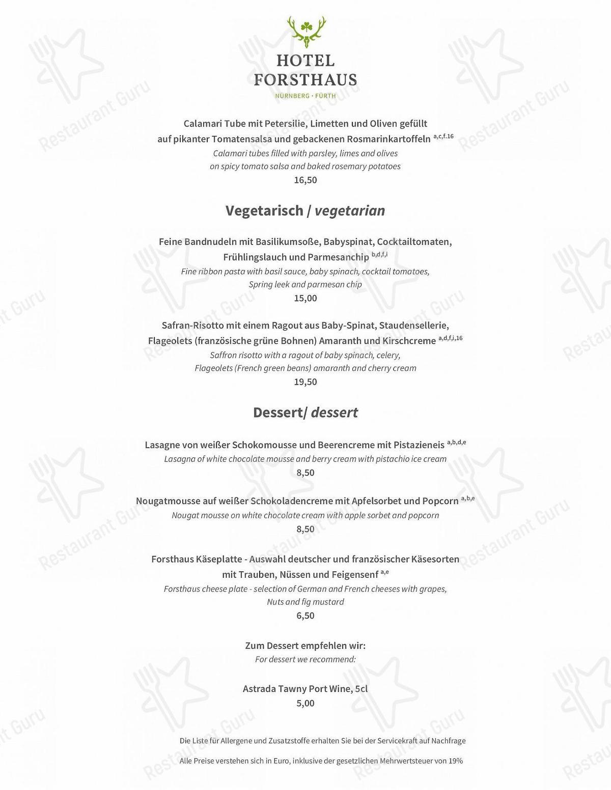 Maximilians Restaurant Speisekarte