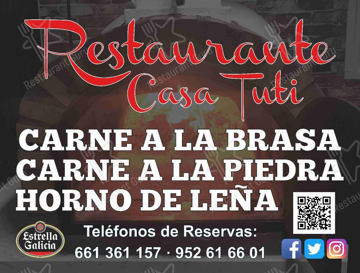 Меню для посетителей ресторана Restaurante Casa Tuti