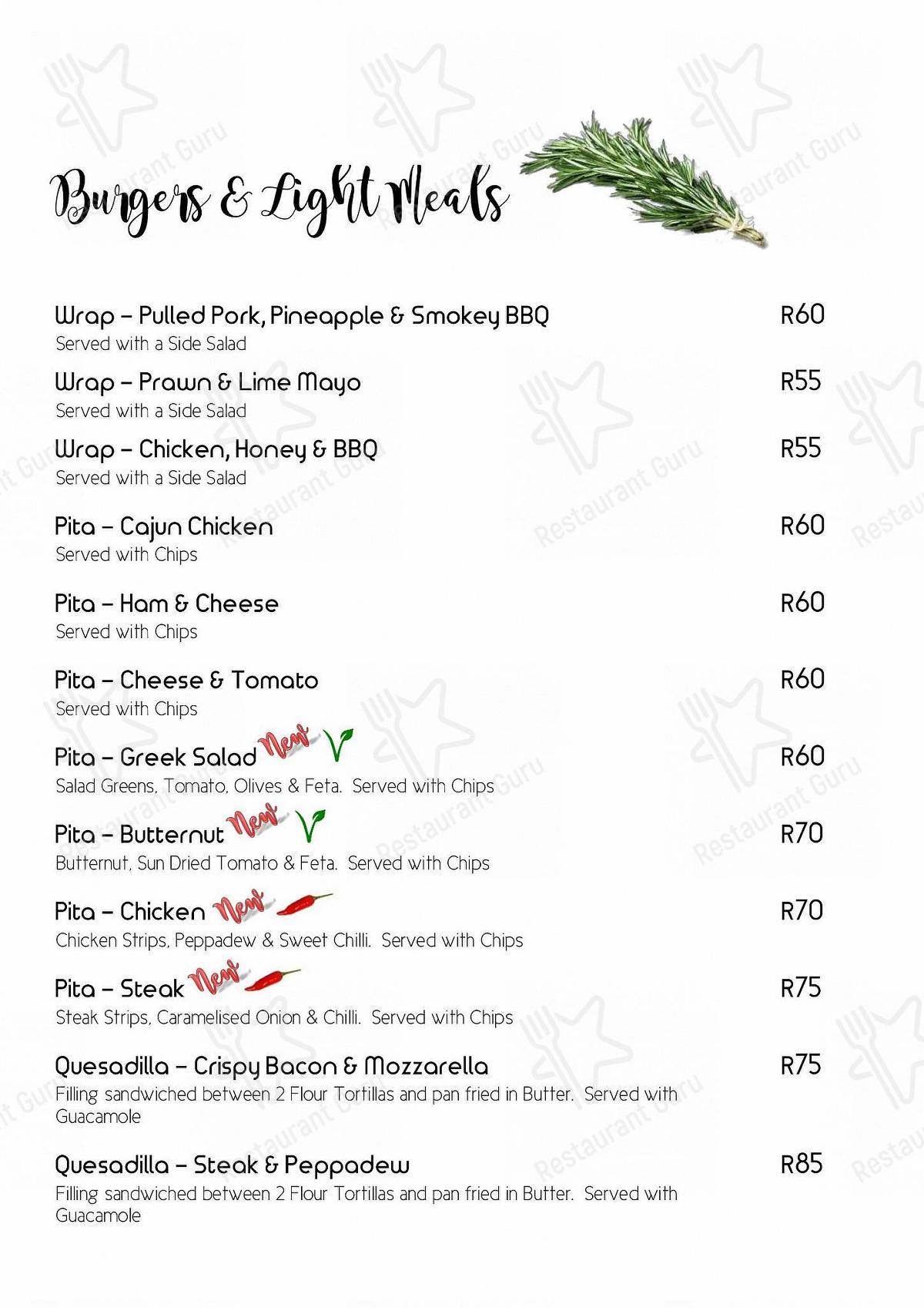 Steve's Pub & Restaurant menu - meals and drinks
