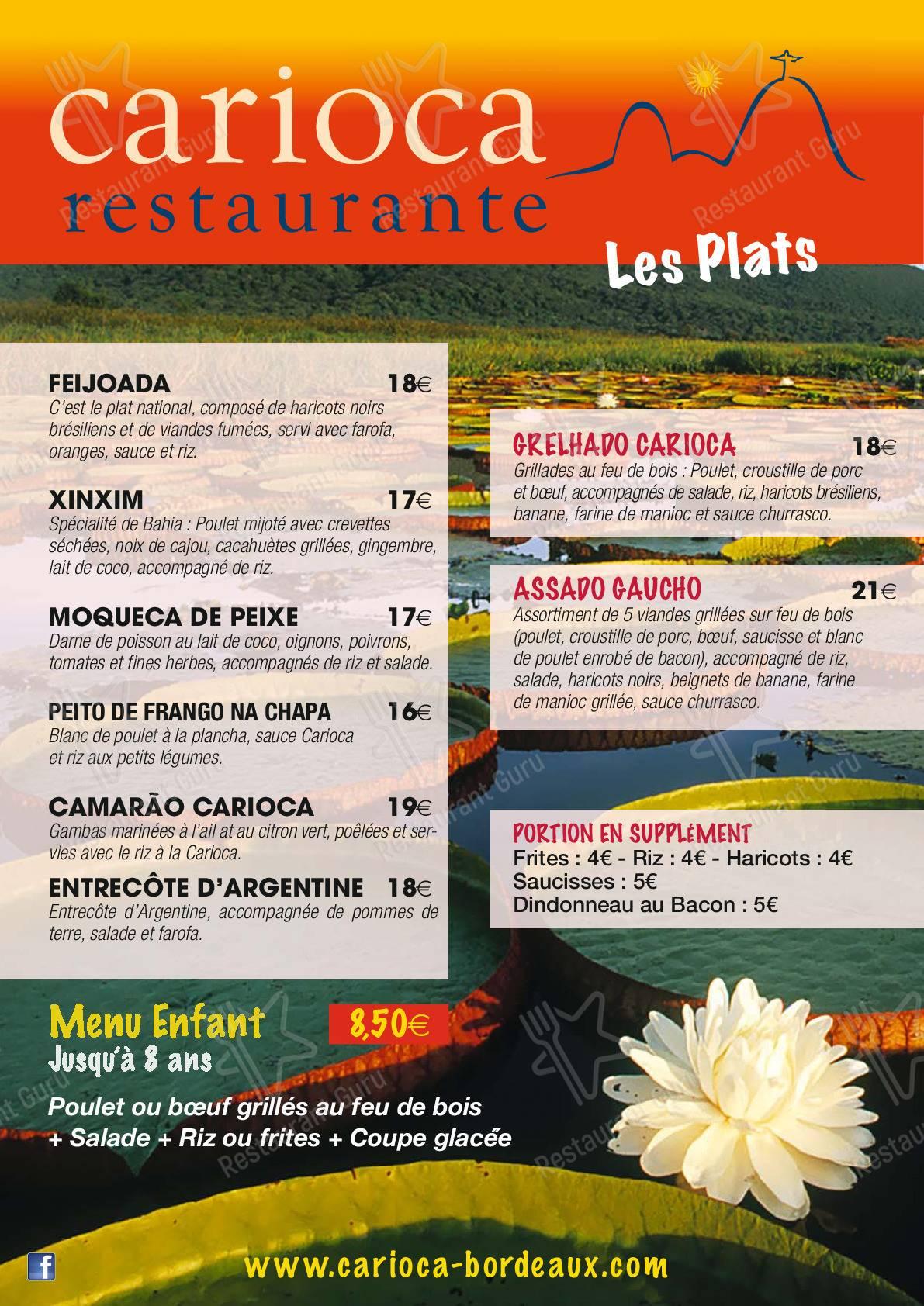 Découvrez le menu pour Carioca Restaurante