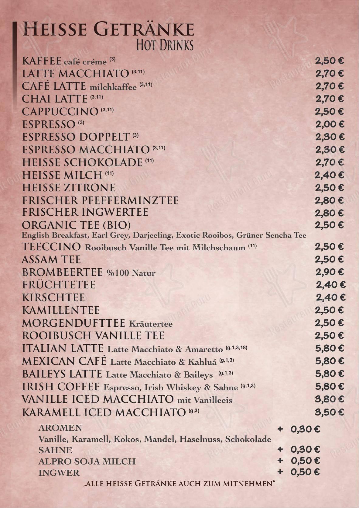 Speisekarte von Chakra Café cafe