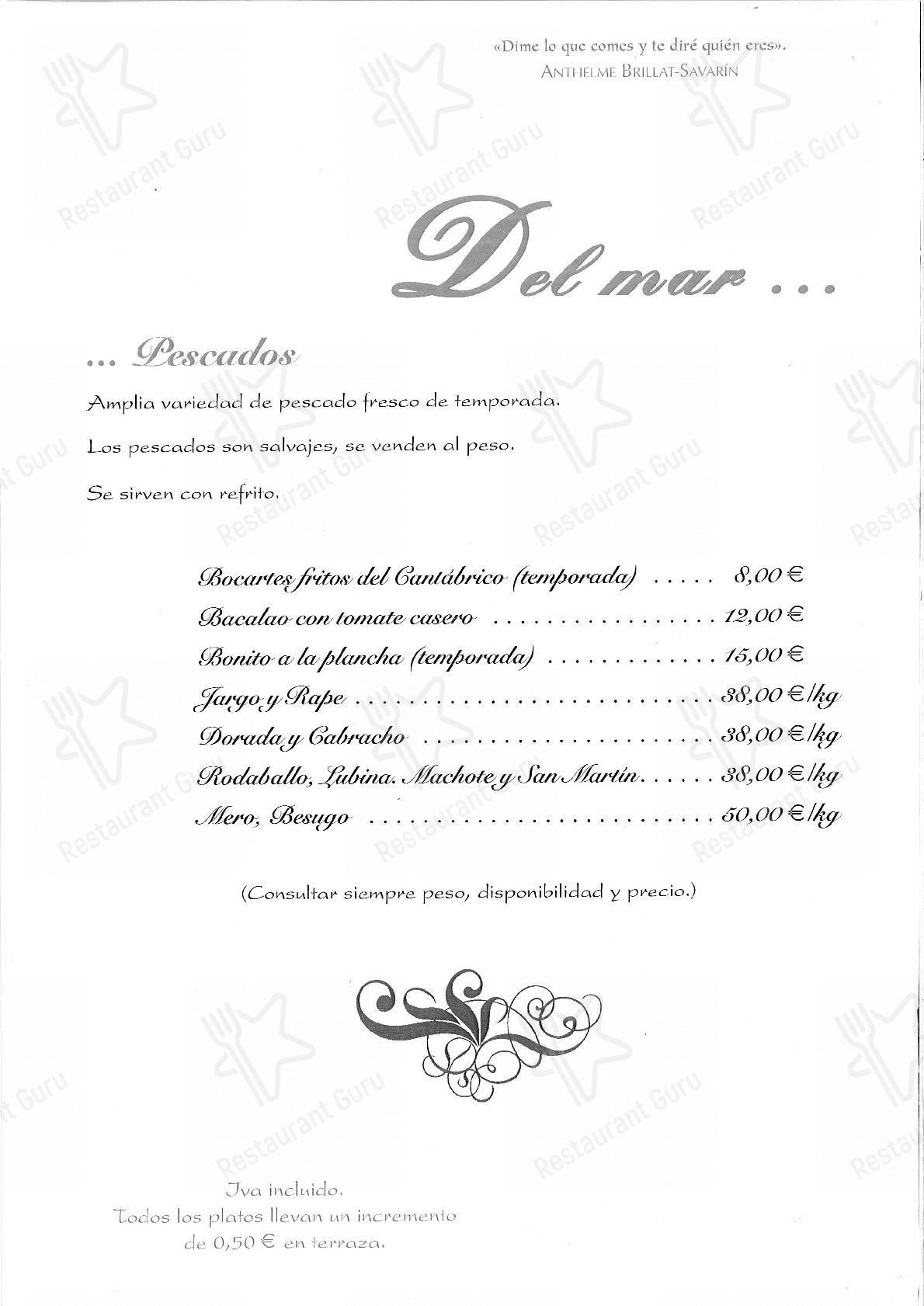 El Rincon de Zeto menu - meals and drinks