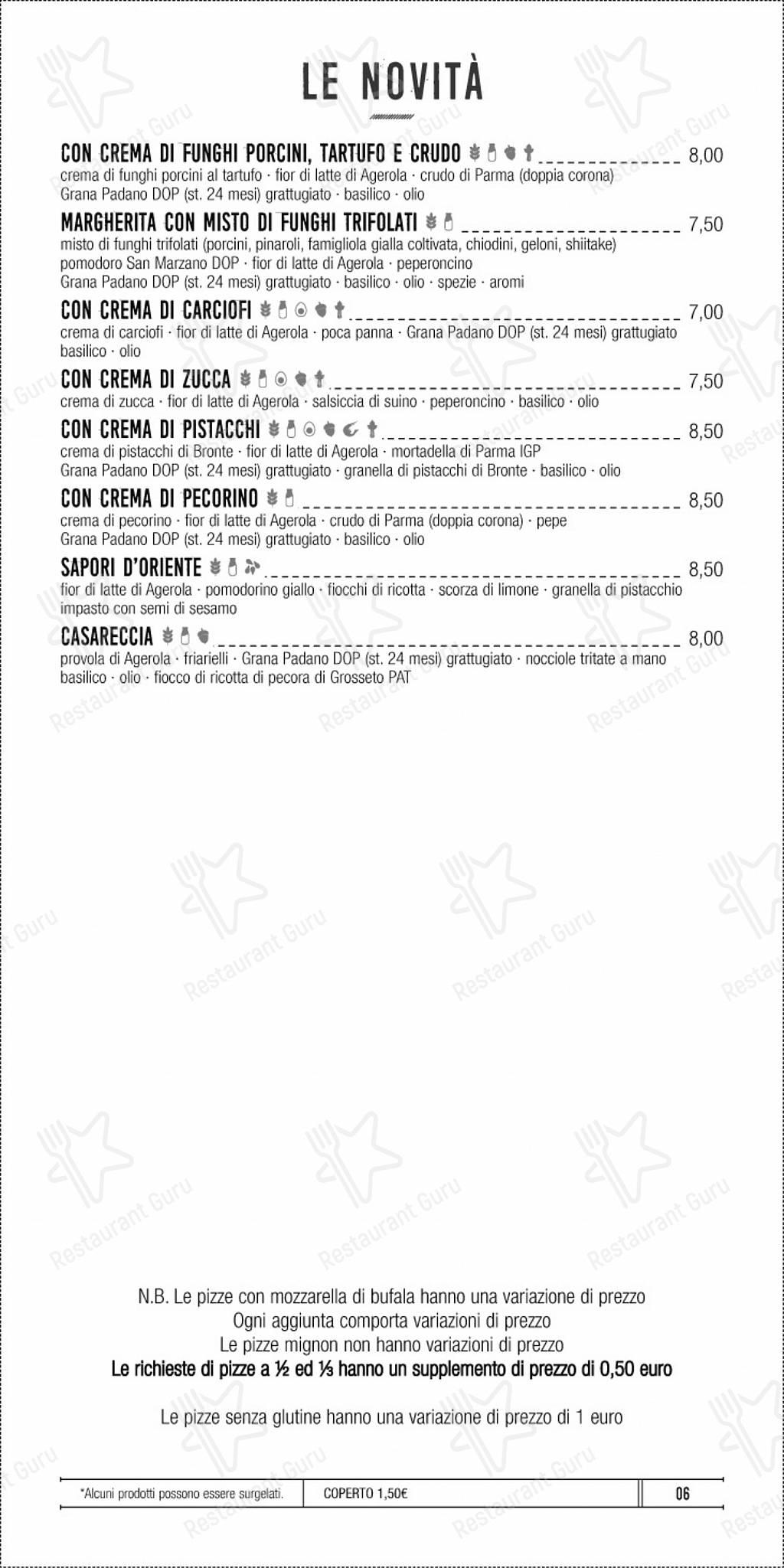 Menu di Pizzeria di Napoli