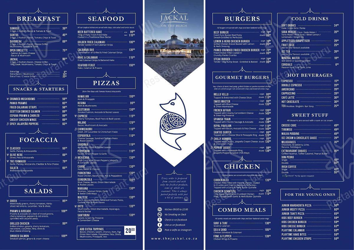 Découvrez le menu pour Jackal on the Beach