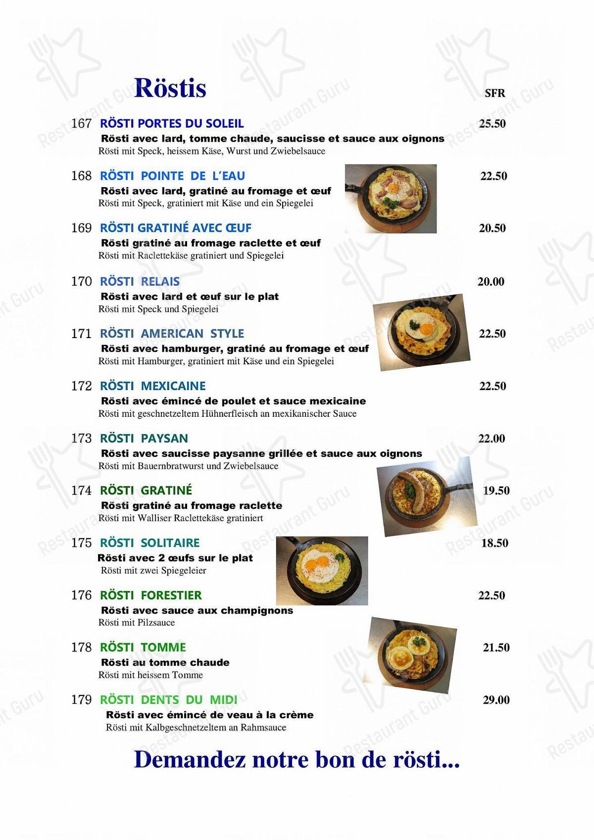 Découvrez le menu pour Hôtel-Restaurant Le Relais Panoramique ***
