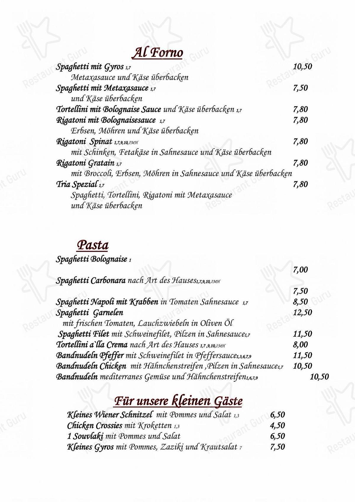 Seht euch die Speisekarte von Kostas TaverneImbiss Pizzeria an