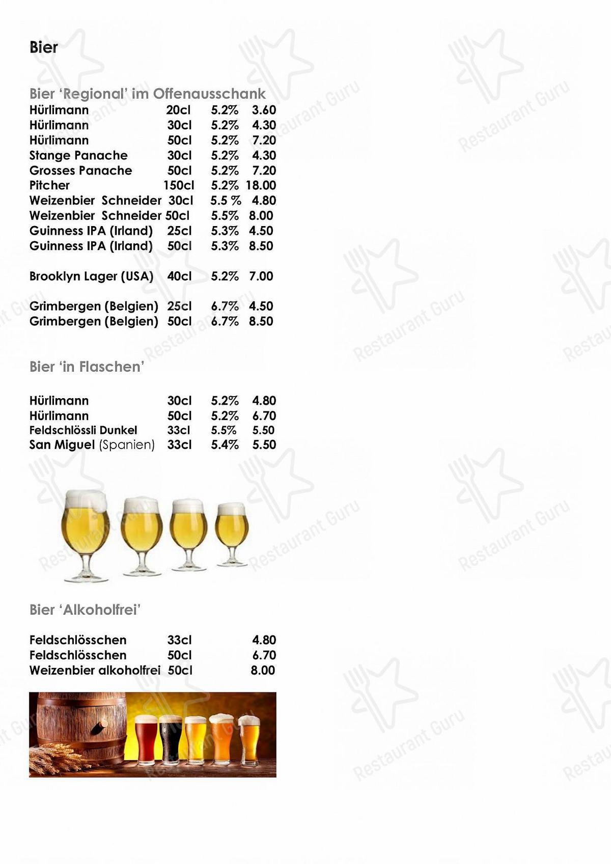 Sternen menu