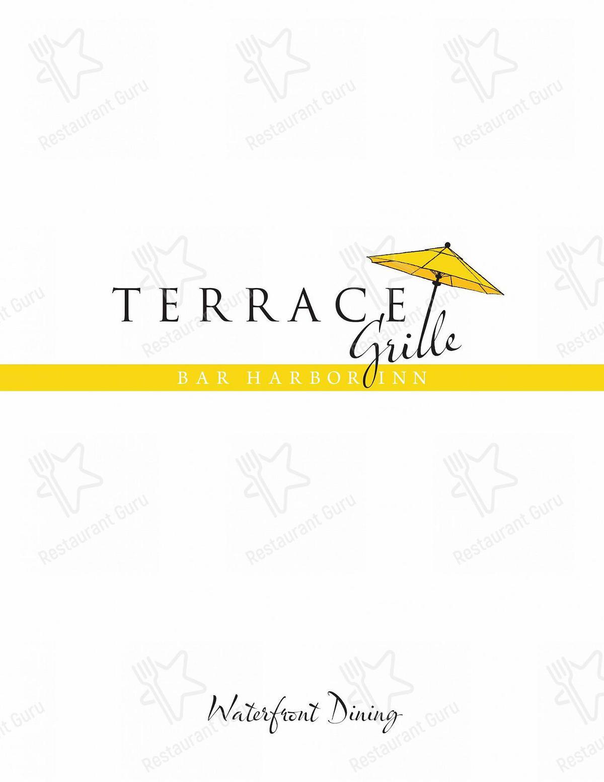 Menu for the The Terrace Grille pub & bar
