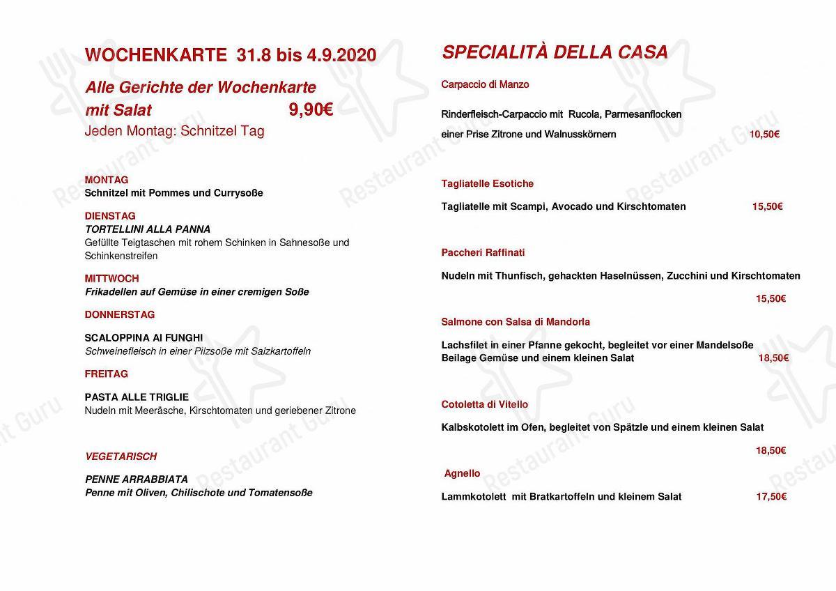 Mira la carta de Cafe Ristorante zum Handschuh & Shopping im Modehaus Niebel