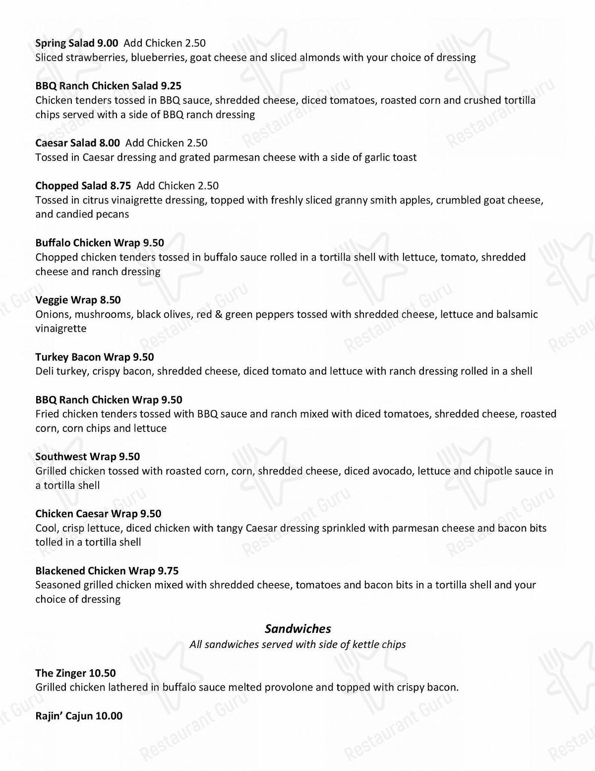 Silver Creek Saloon in Belleville - Full Food Menu