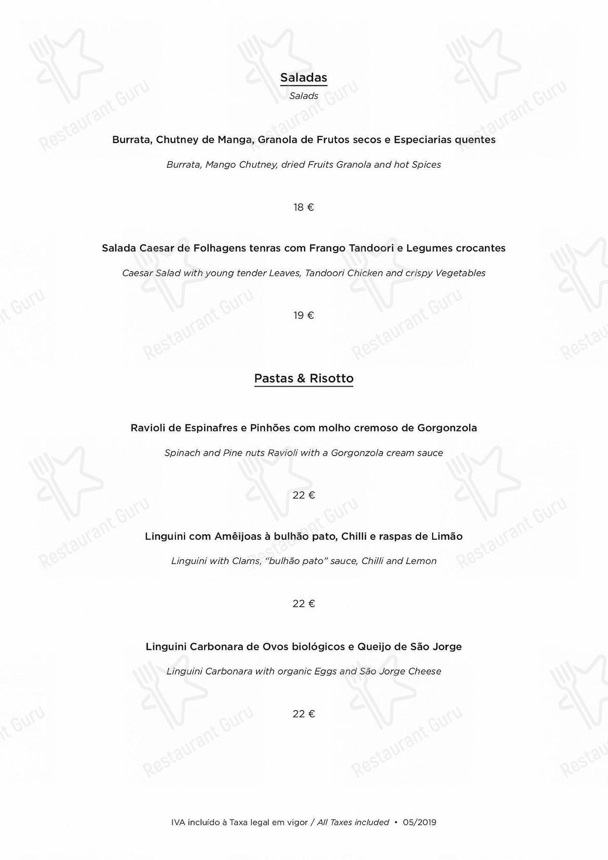 Carta de Atlântico Bar & Restaurante restaurante