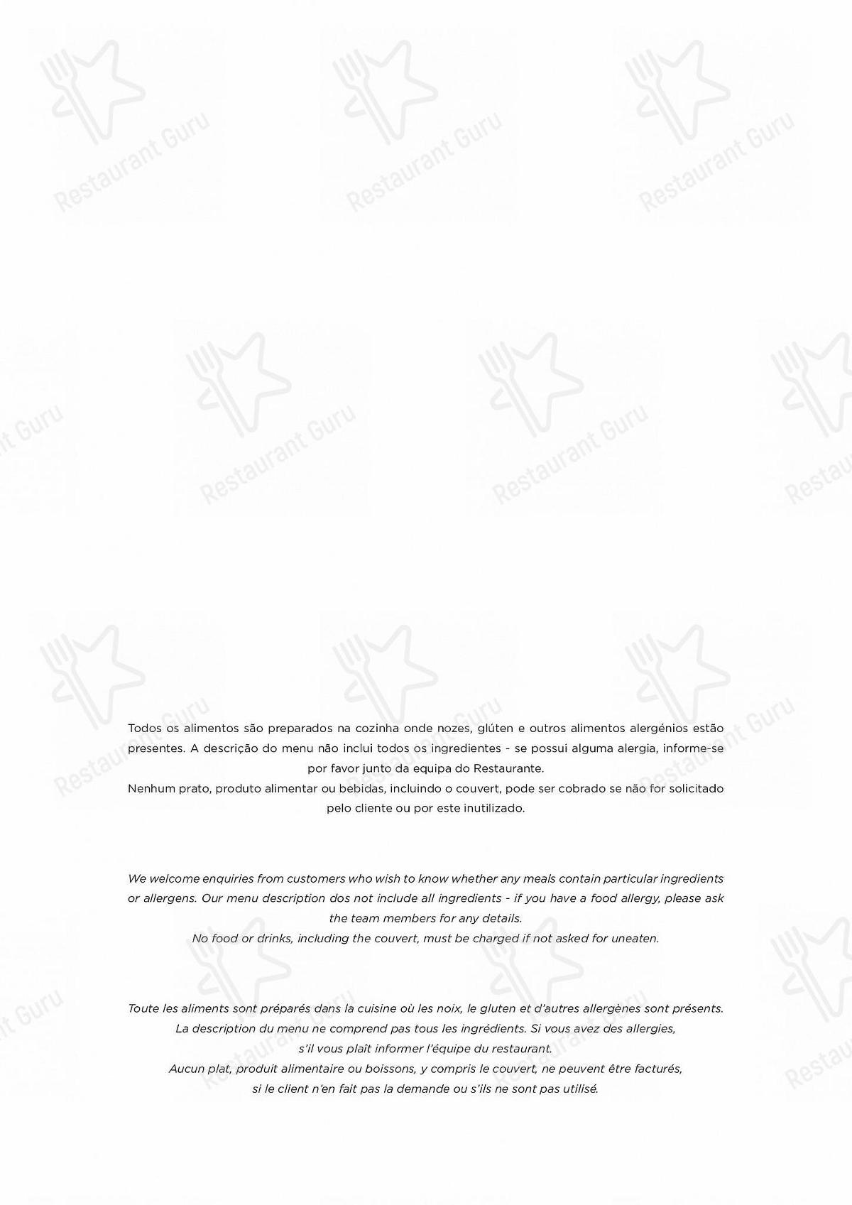 Carta de Atlântico Bar & Restaurante