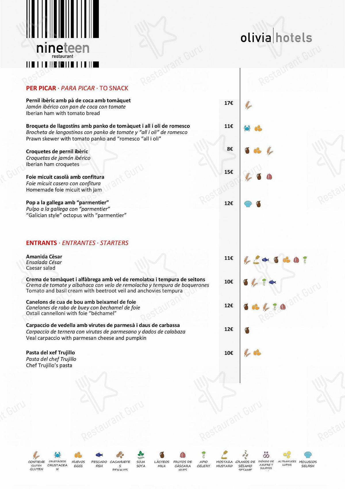 Mira la carta de Restaurant L'Éclair