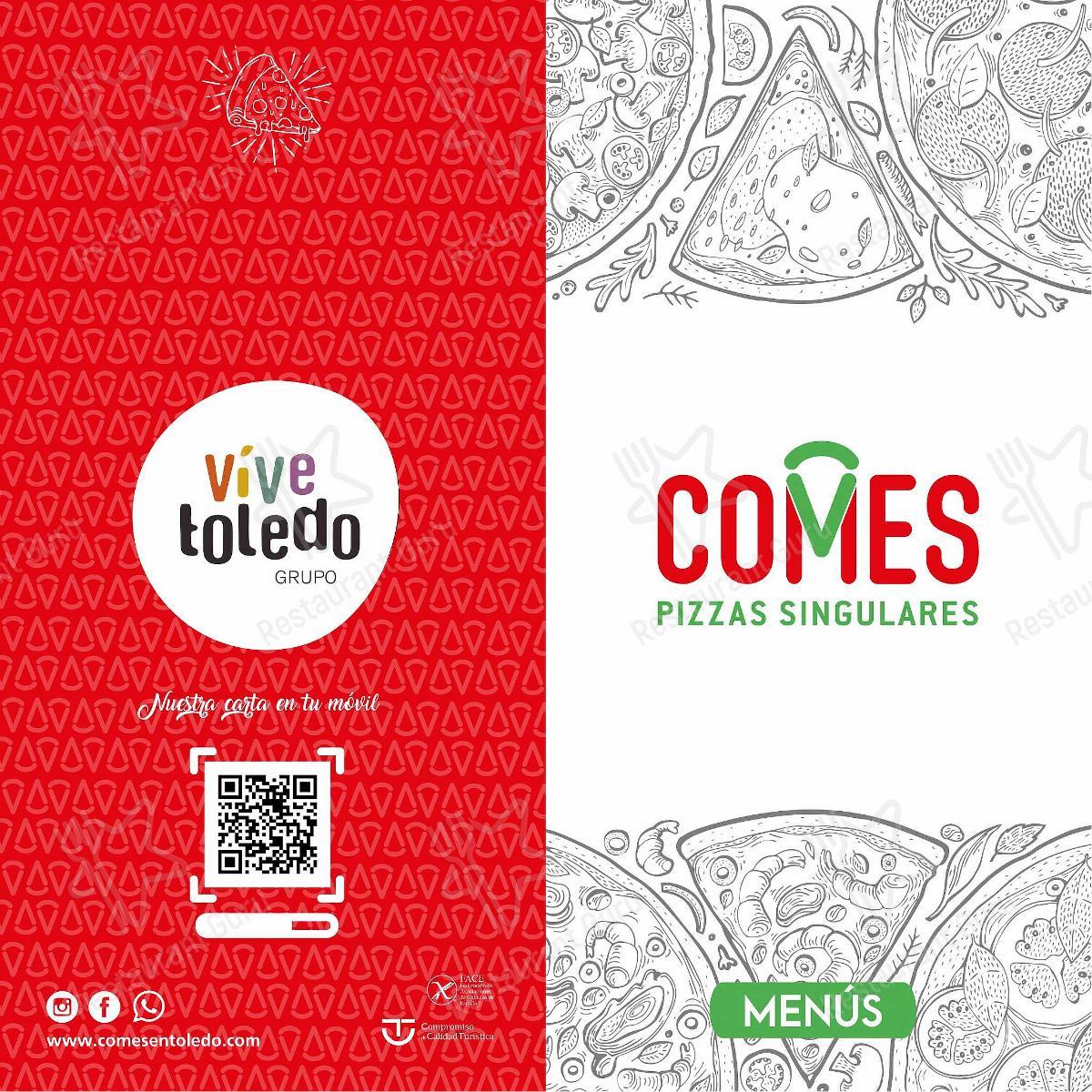 Взгляните на меню Restaurante Pizzería COMES