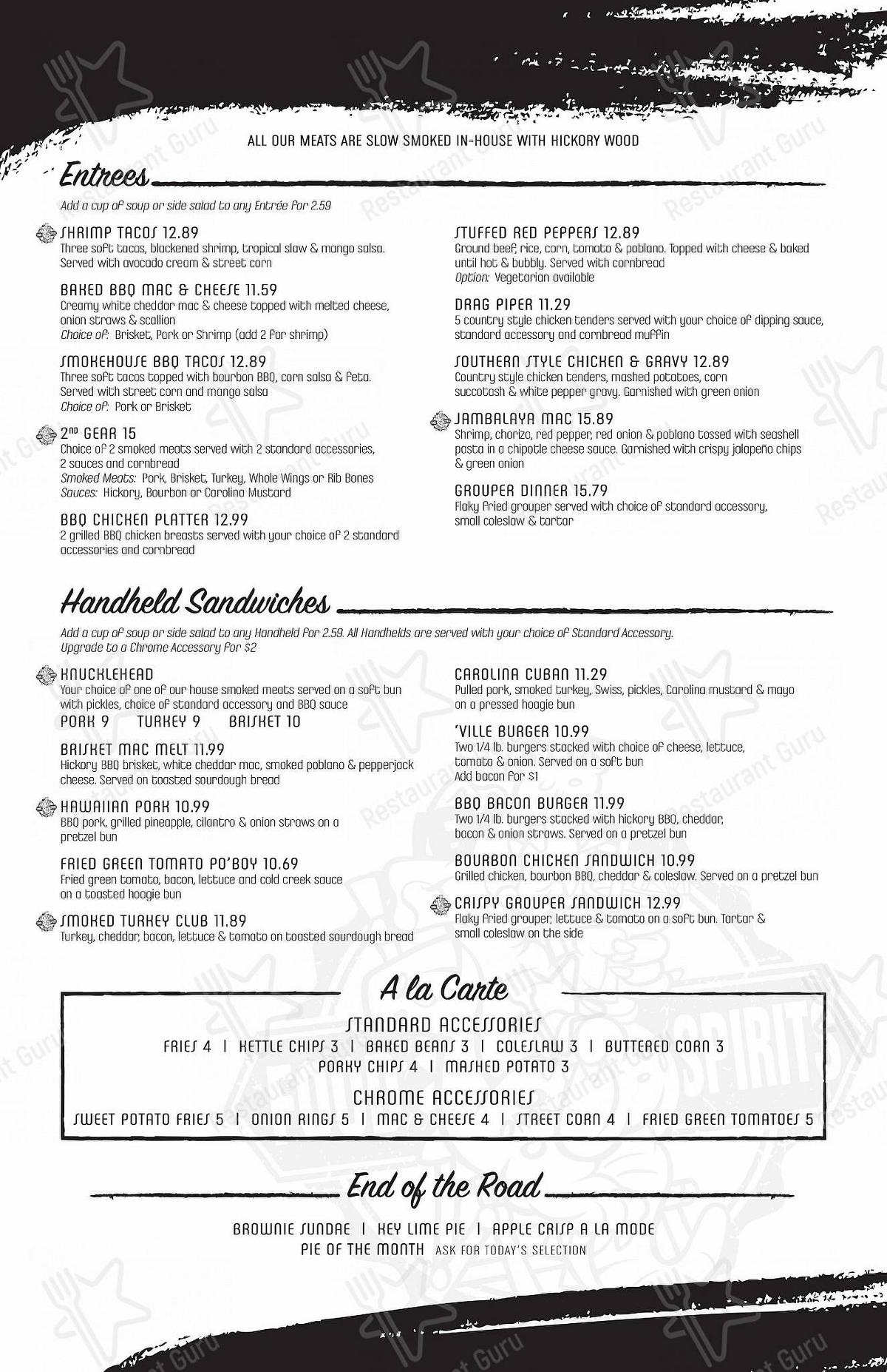 Check out the menu for Original Margaritaville