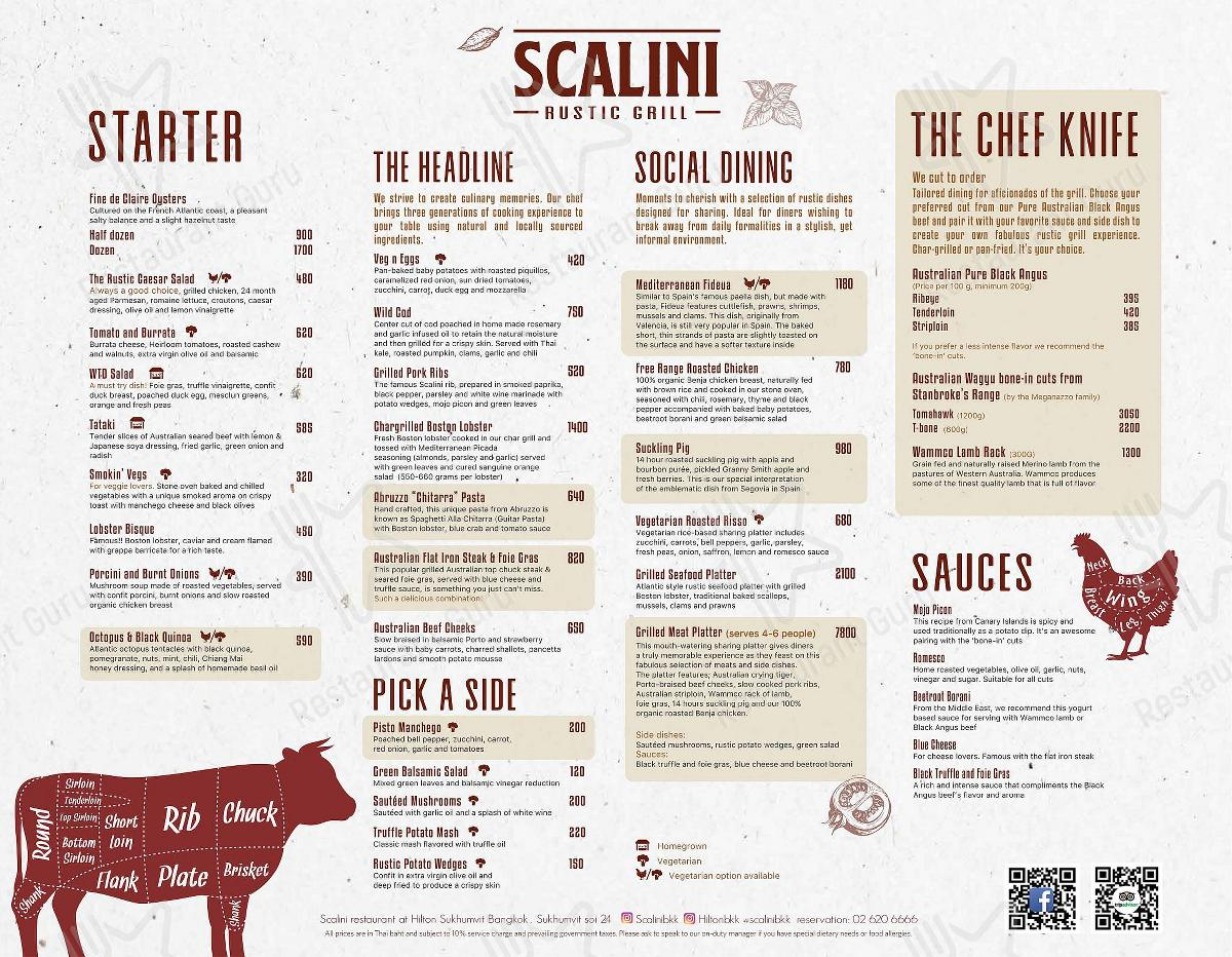 Check out the menu for Scalini