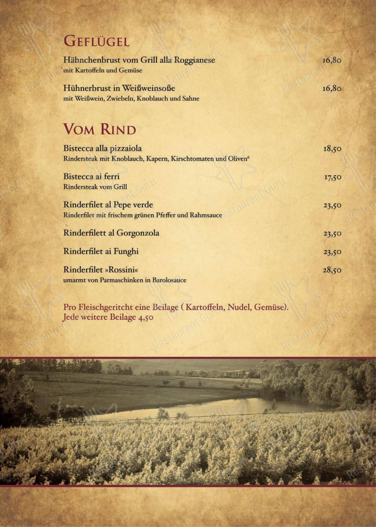Carta de Ristorante Pizzeria Zum Schwanen