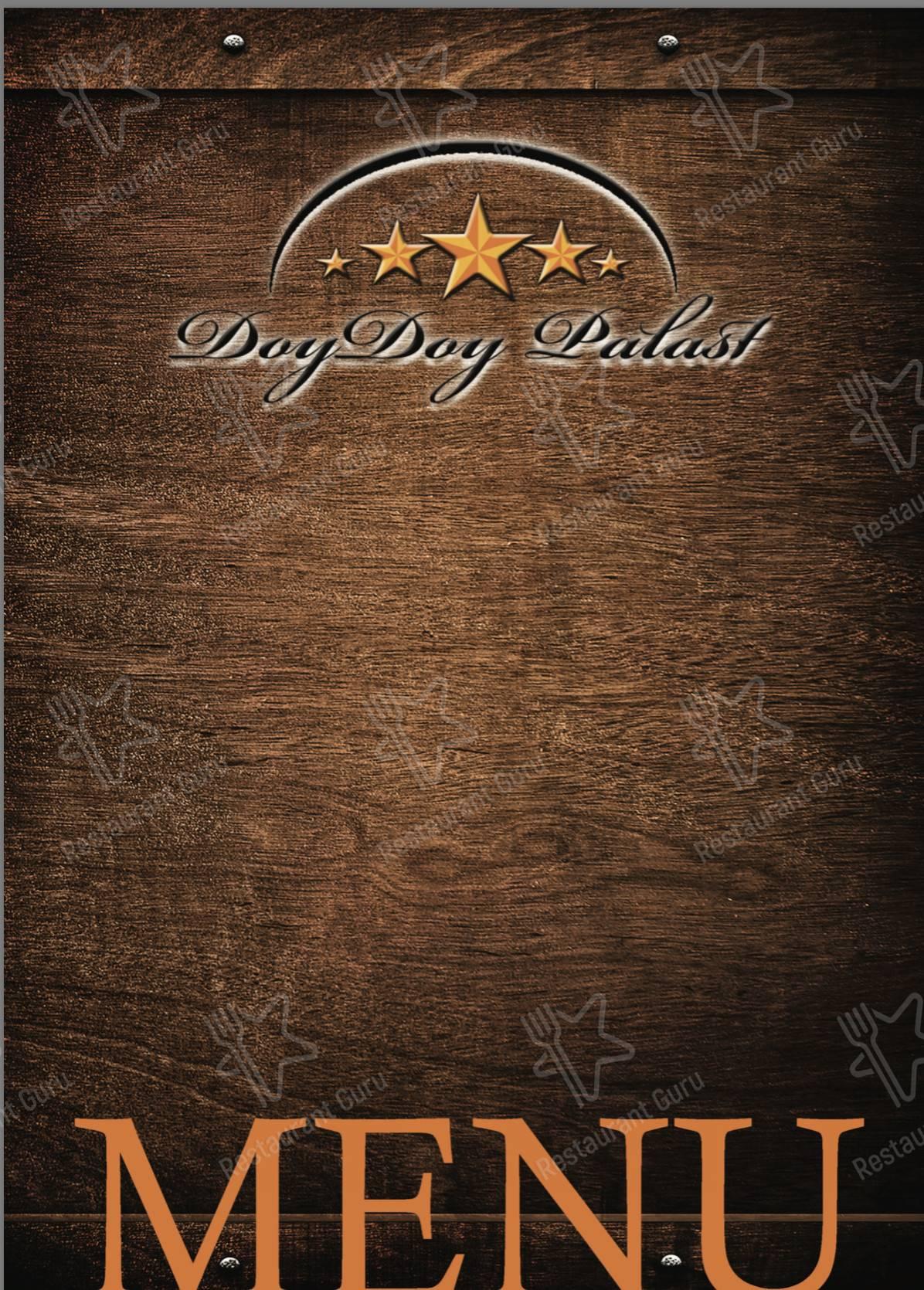 Doy Doy Palast Speisekarte - Essen und Getränke