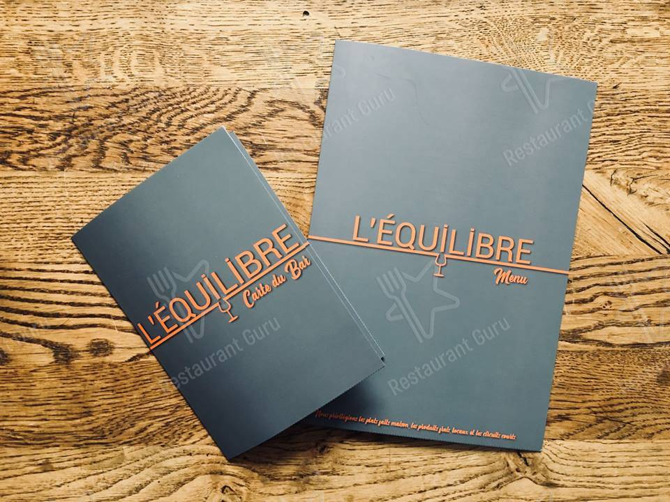 Check out the menu for L'Equilibre restaurant Serre Chevalier 1400