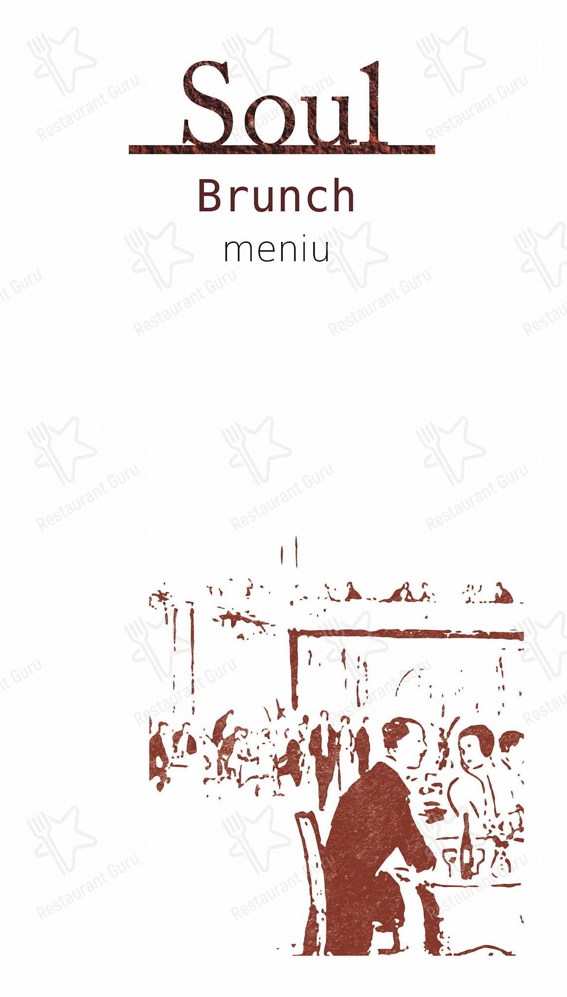Menu pour Soul - plats et boissons