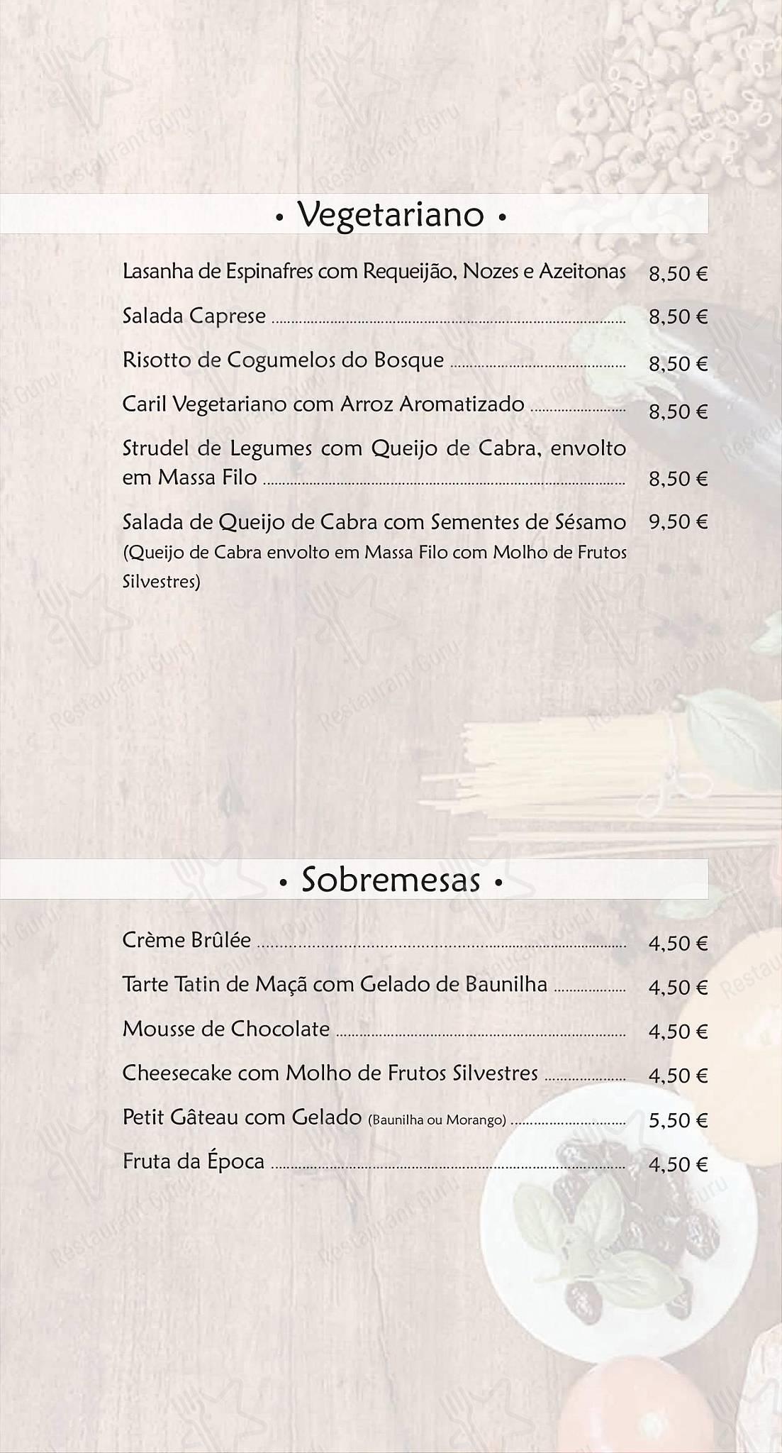Restaurante Stasha menu - pratos e drinques