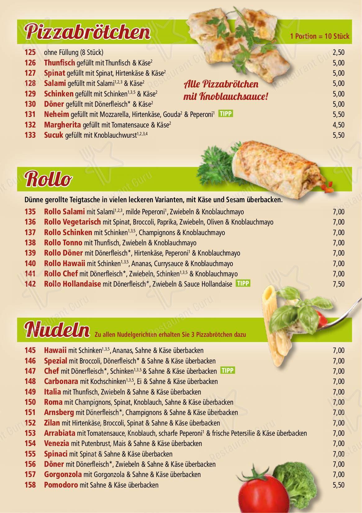 Tomato Grill In Neheim Speisekarte - Essen und Getränke