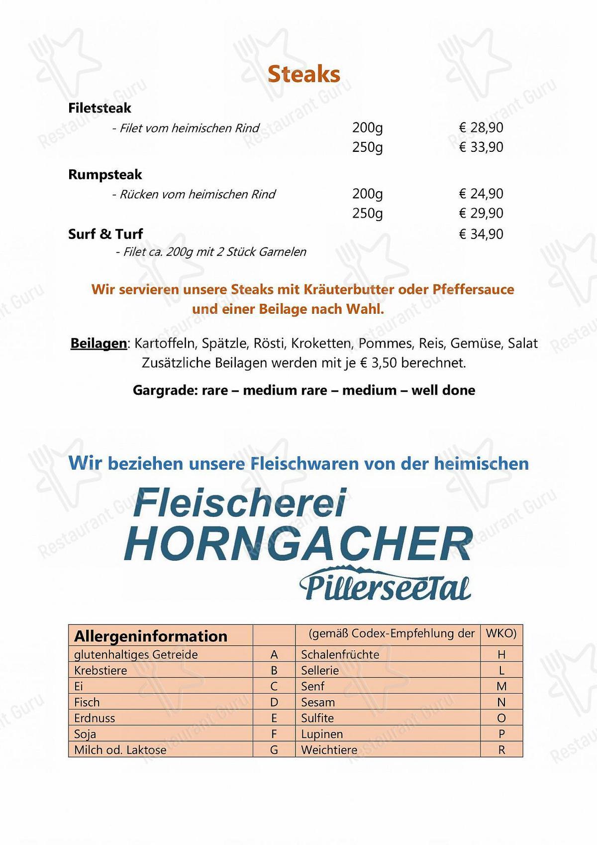 Café Restaurant Hermann Speisekarte - Gerichte und Getränke