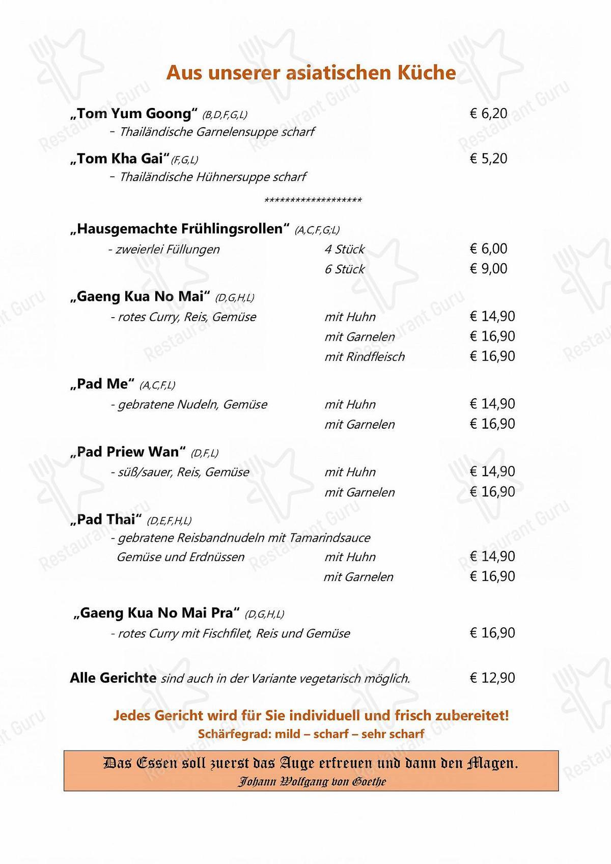Café Restaurant Hermann Speisekarte - Essen und Getränke