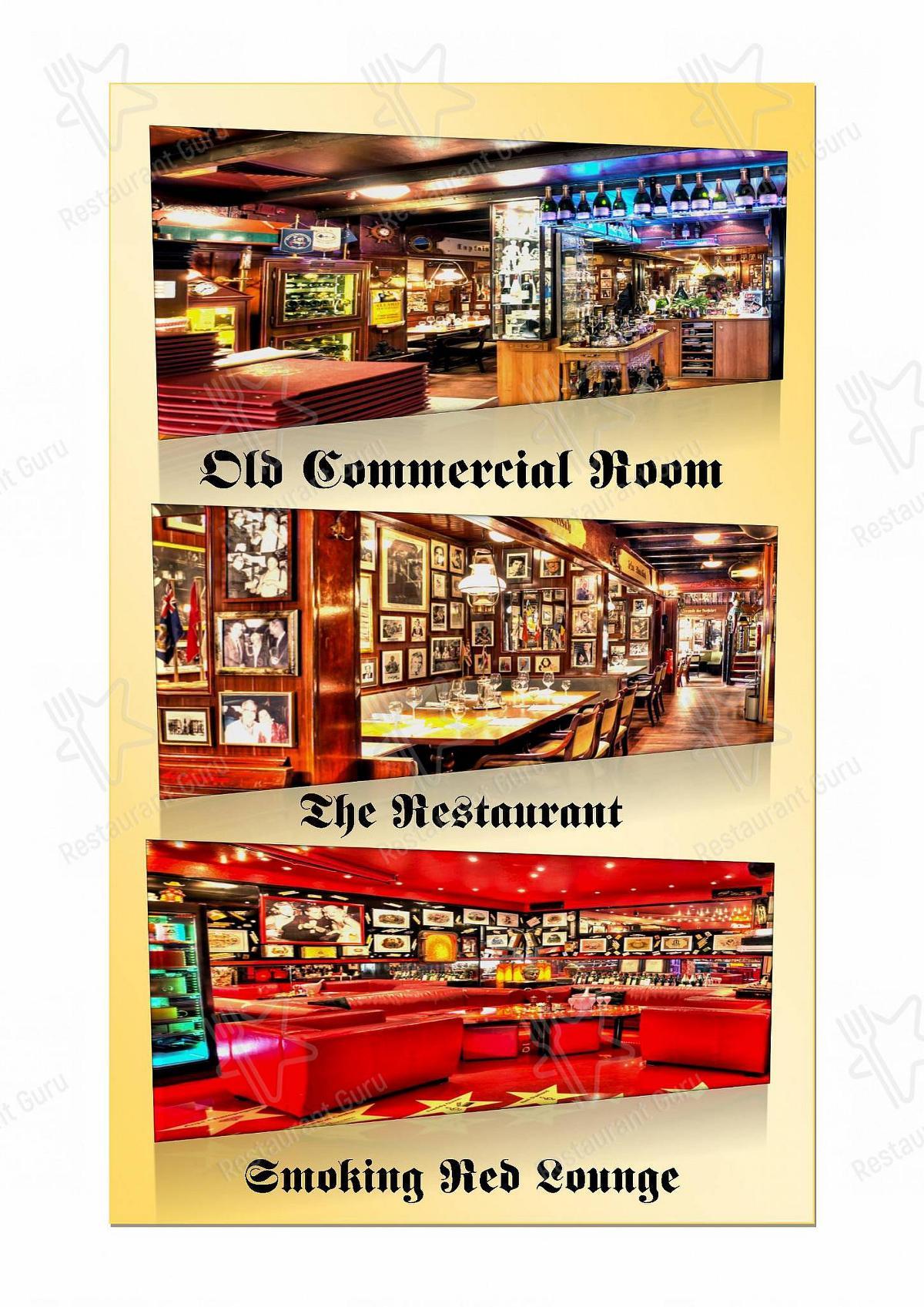 Old Commercial Room Speisekarte - Gerichte und Getränke