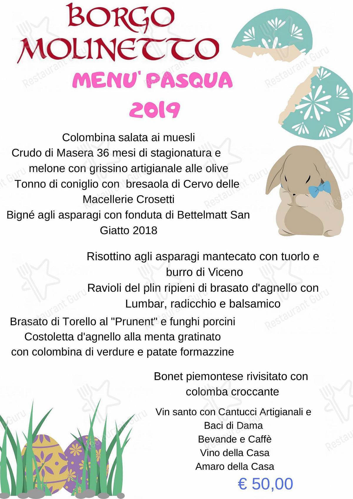 Guarda il menu di Ristorante Bar Molinetto
