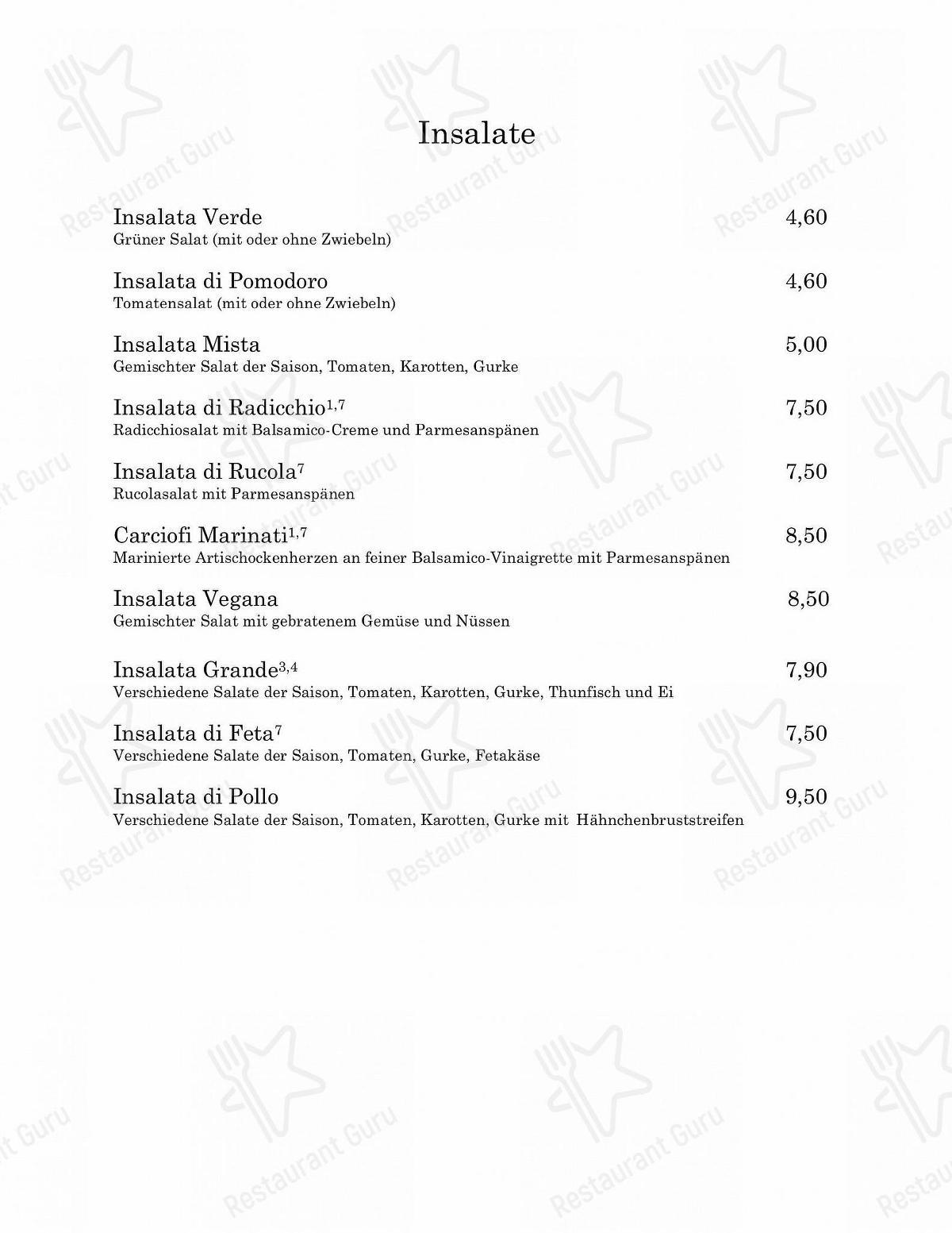 Menu At Ristorante Ferrari Restaurant Friedberg