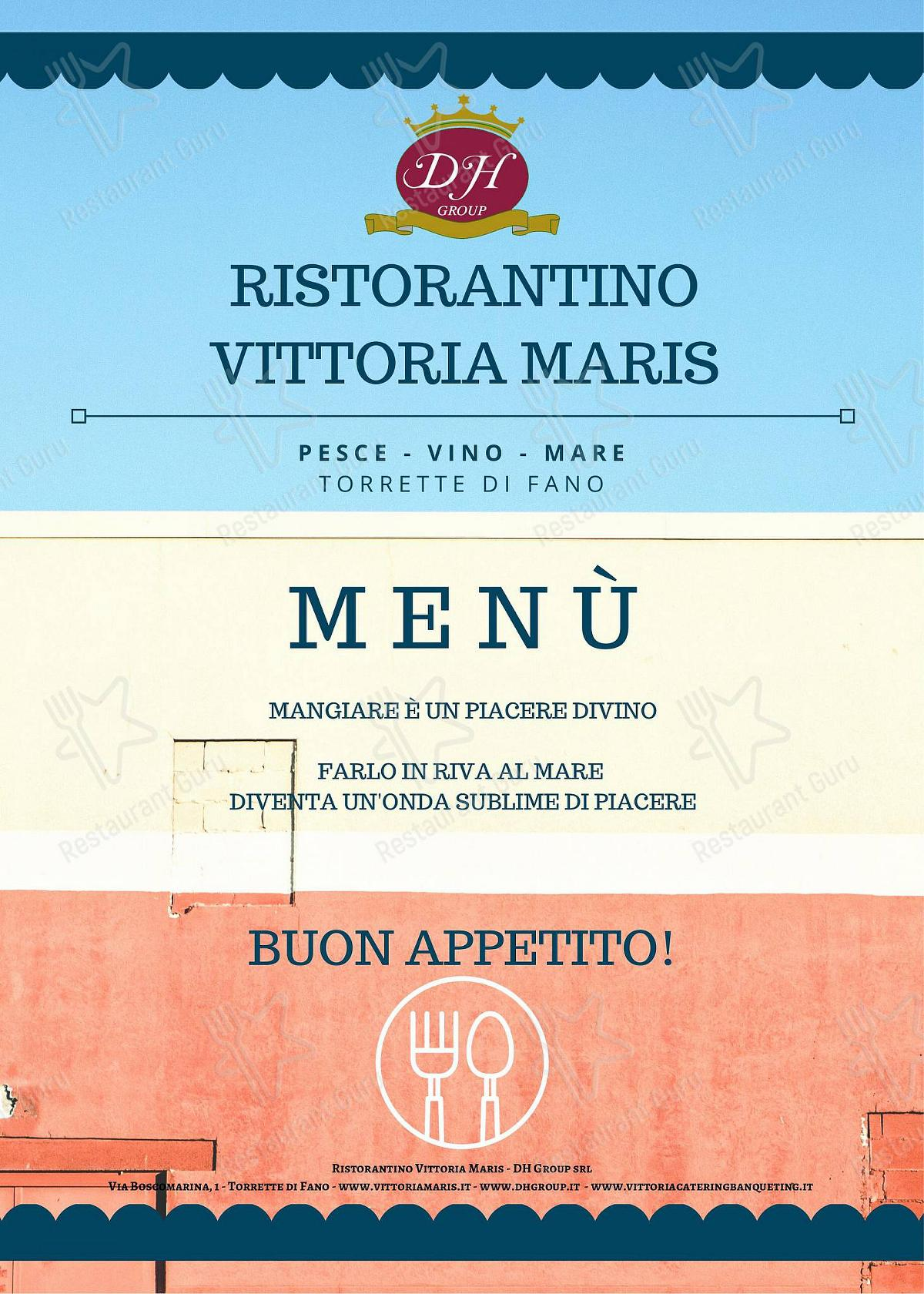 Check out the menu for vittoria maris