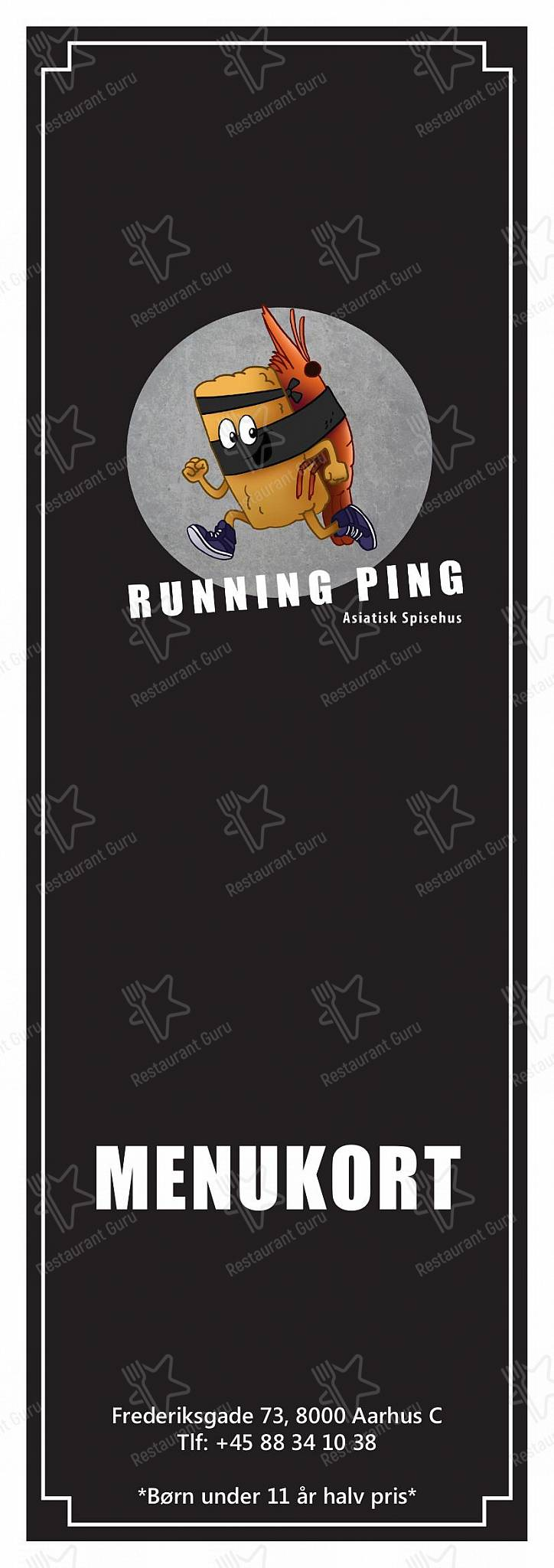 Menu for the Running Ping restaurant