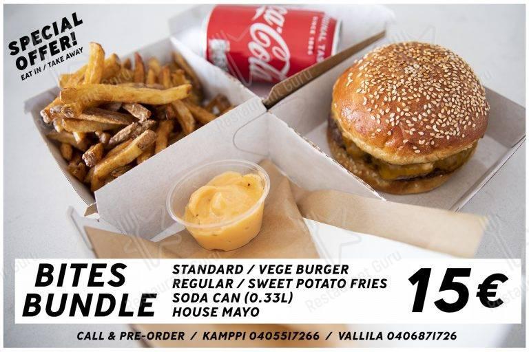 Carta de Bites Burgers