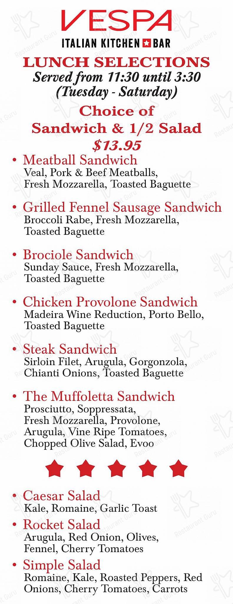 Vespa Italian Kitchen Bar In Farmingdale Restaurant Reviews
