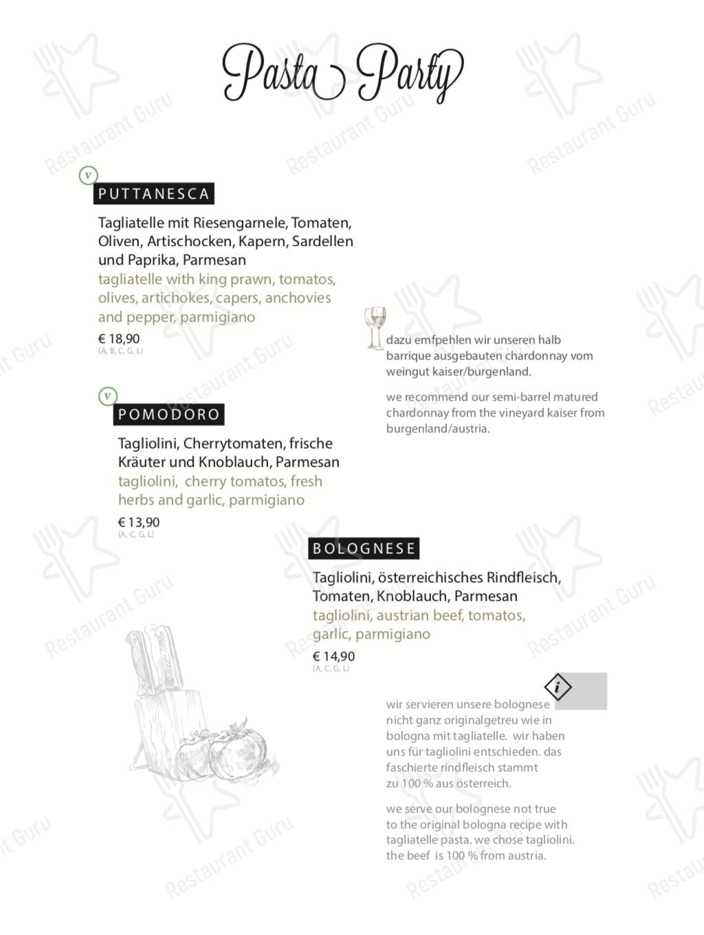 Check out the menu for Galzig Bistrobar