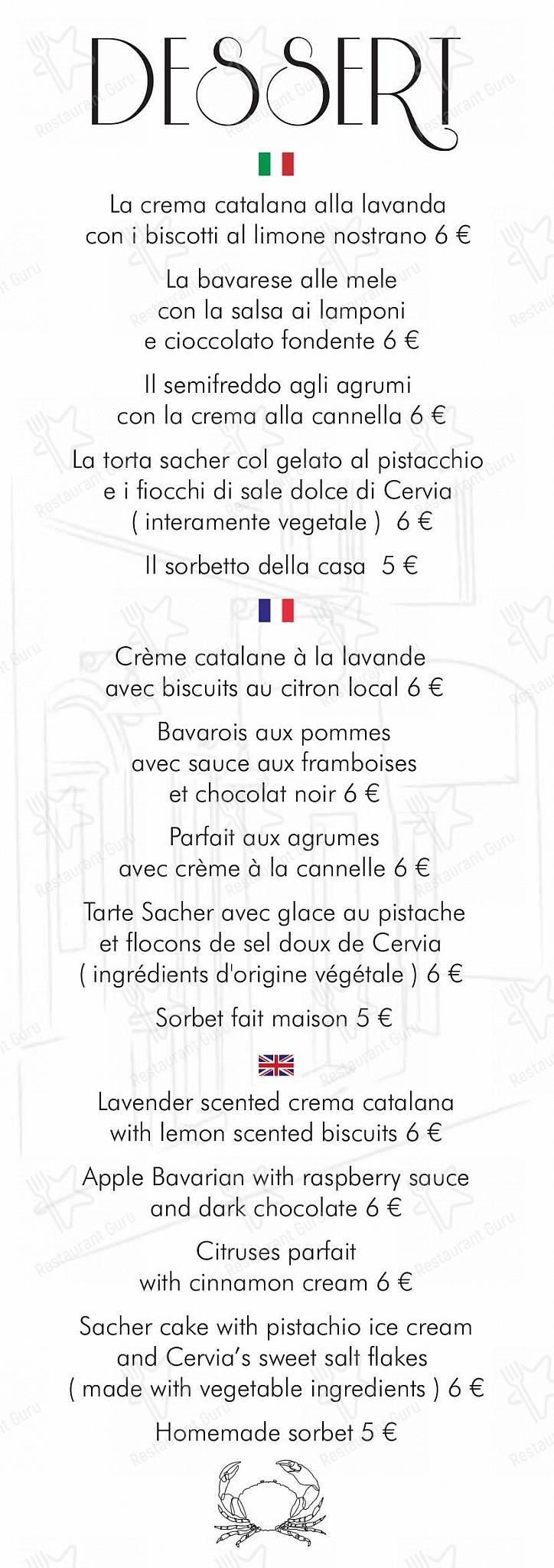 Guarda il menu di La Gritta Bordigotta