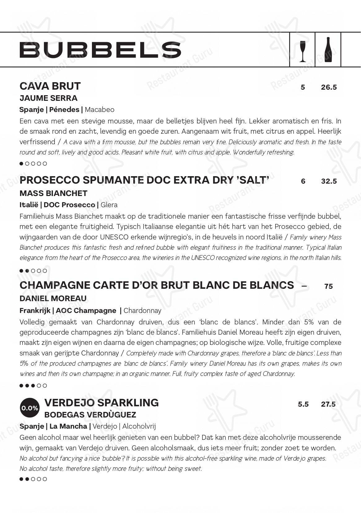 Check out the menu for Ubica