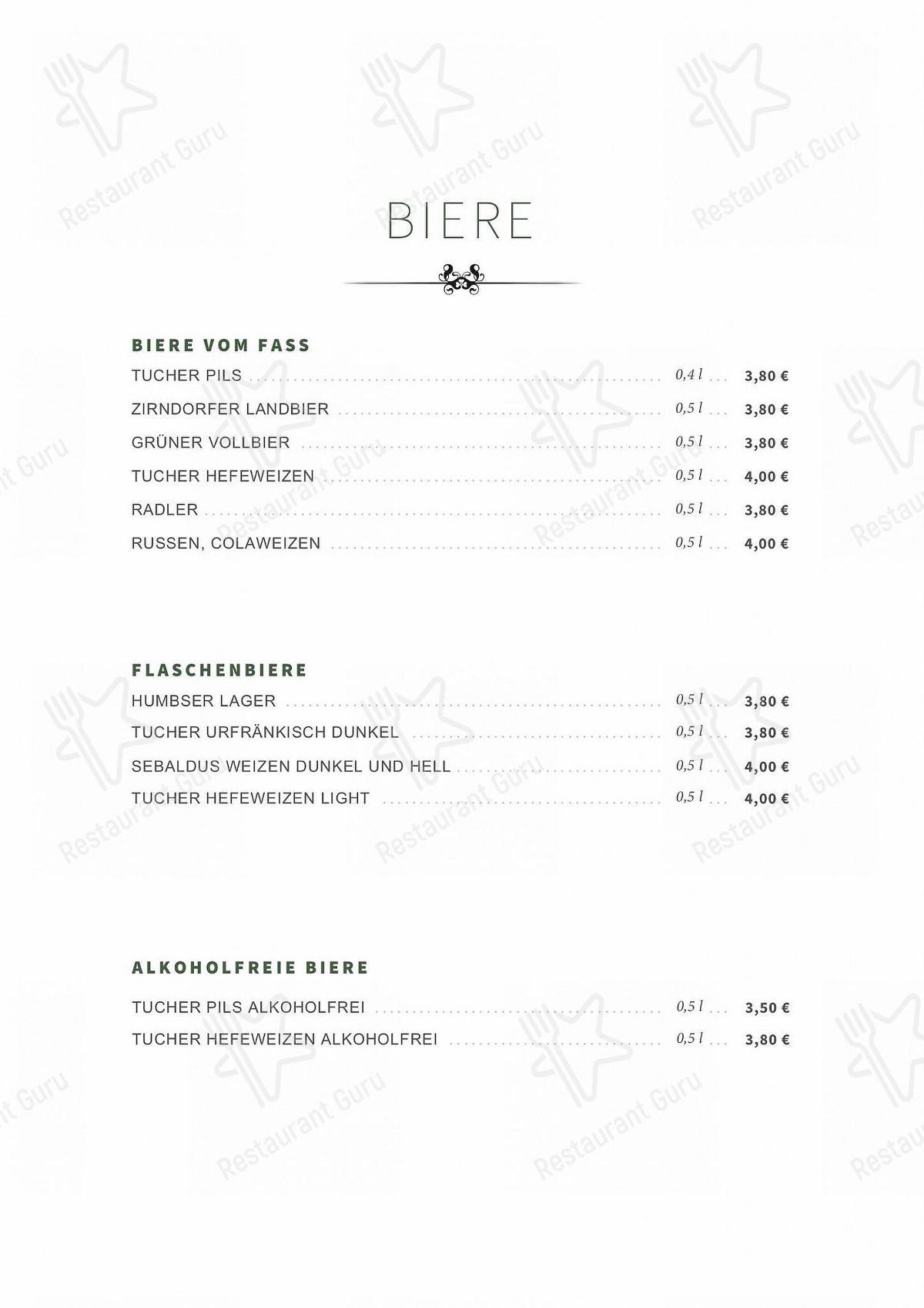Меню Schwarzes Kreuz - еда и напитки