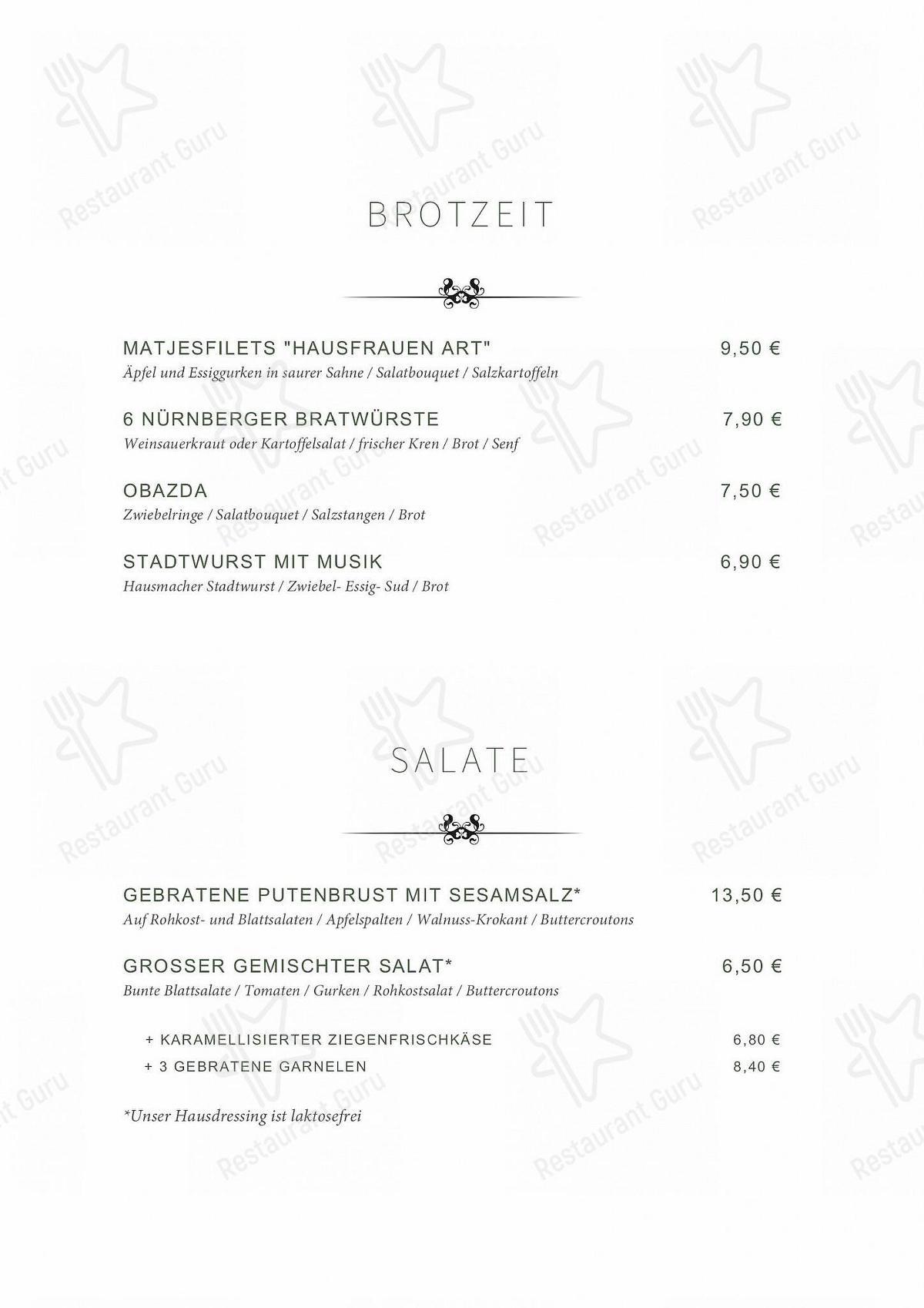 Взгляните на меню Schwarzes Kreuz