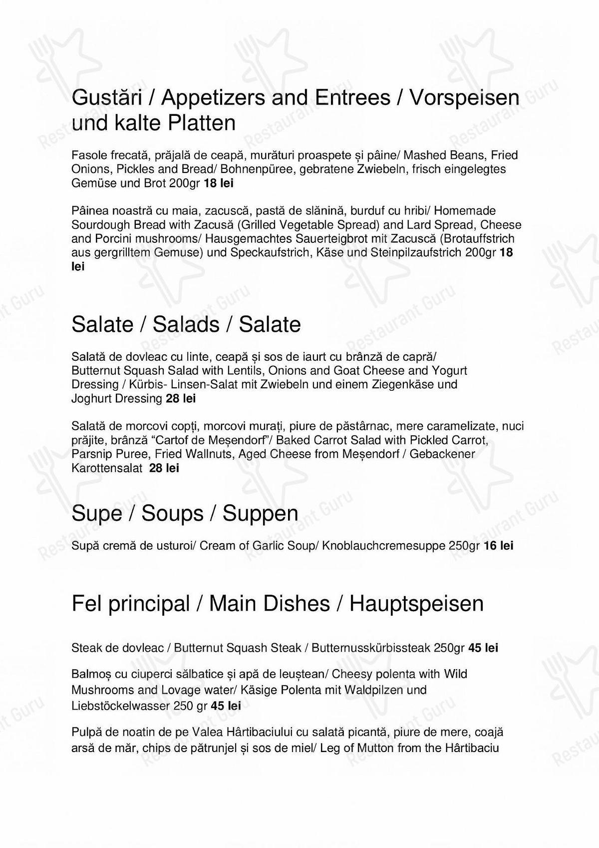 Syndicat Gourmet - Food Menu