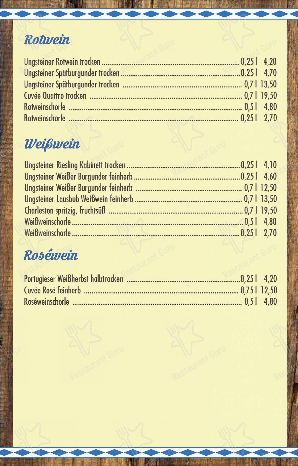 Speisekarte Von Trachtenheim Restaurant Konigsbrunn