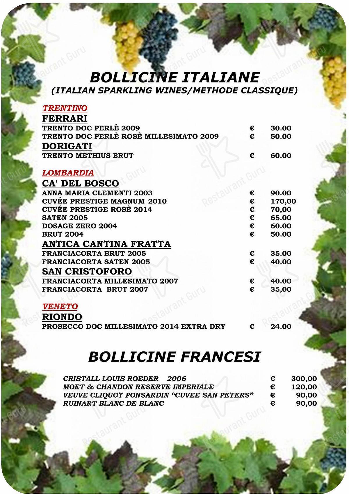Menu di Taverna Coppapan & Pizzeria Le Dahu - pasti e bevande