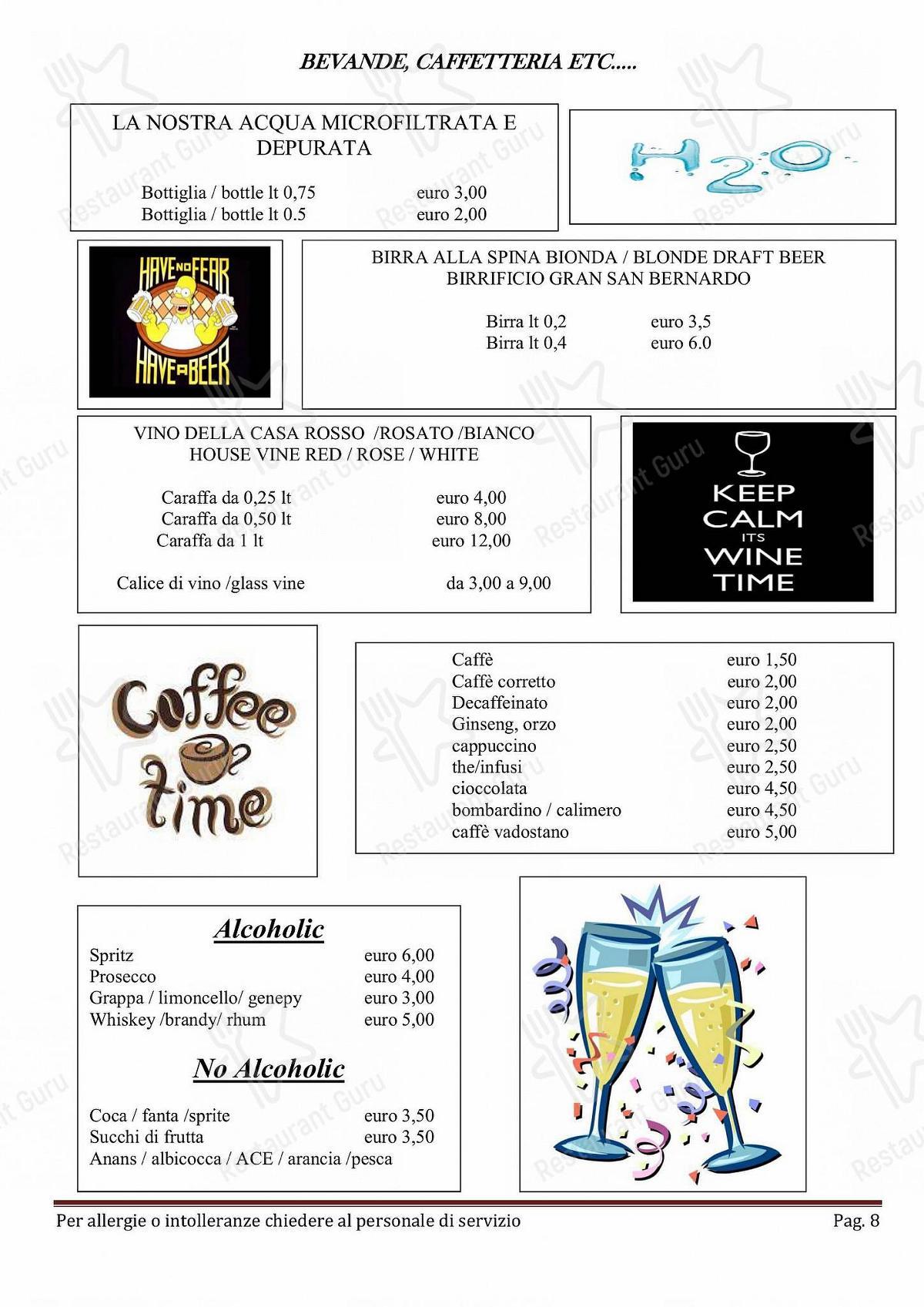 Menu per Taverna Coppapan & Pizzeria Le Dahu pizzeria