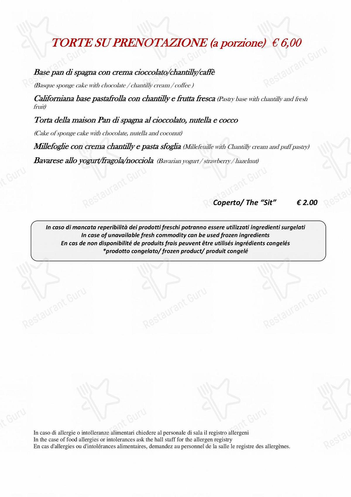 Menu di Taverna Coppapan & Pizzeria Le Dahu - Menu pizzeria