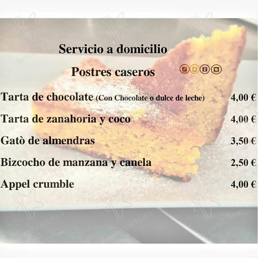 Carta de Ca'n Prima Restaurante Pizzeria - comidas y bebidas
